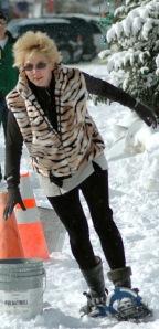 Coach at Snowshoe Race