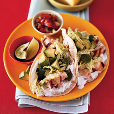 Baja Fish Tacos (from www.health.com )
