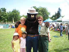 Coach Stacy & Smokey Bear