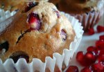 Pomegranate Ginger Muffins