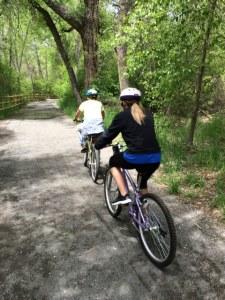biking the trail
